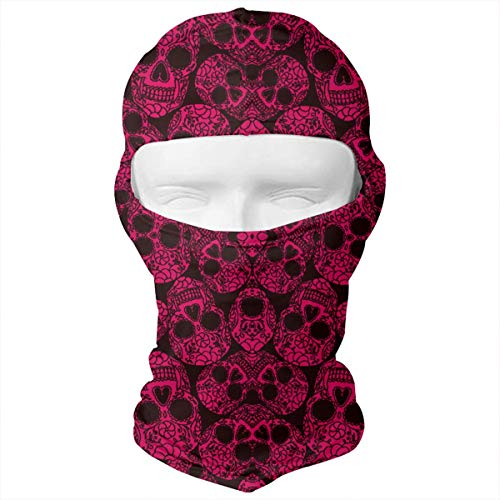 Leopoldson Red Skulls Rose Pinky Balaclava UV Protection Windproof Ski Face Masks for Cycling Outdoor Sports Full Face Mask Breathable for $<!--$17.51-->