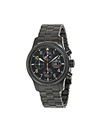 Fortis Aeromaster Stealth Chronograph Black PVD Mens Watch 656.18.18 M