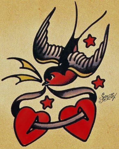 Sailor Jerry Tattoo Art 14 x 11 Photo