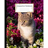 Image for Composition Notebook: Wide Ruled Lined Paper Notebook Journal: Cat In Flowers Workbook for Girls Kids Teens Students for Back to School and Home College Writing Notes
