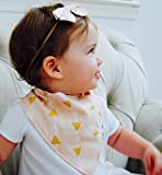 "Baby Bandana Drool Bibs Gift Set For Girls, 4 Pack Organic Cotton With Snaps ""The Beverly Hills Set"" By California Blue"