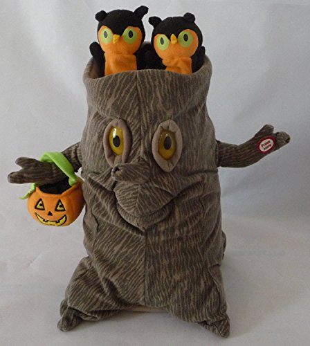 Songs With Halloween Theme (Hallmark Halloween Tree Trunk with Owls Singing The Addams Family Theme)