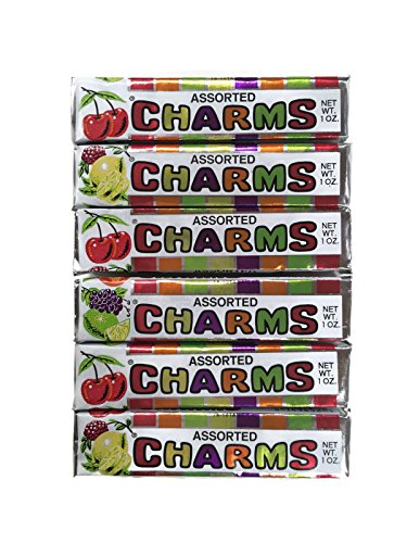 Assorted Charms Candy, 1 Oz. Rolls (Set of 6) -