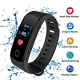 ALANGDUO Fitness Tracker with Heart Rate Monitor, Color Screen Smart Watch with Sleep Monitor, Step Counter, Calorie Counter, Waterproof Pedometer Watch for Kids Women Men