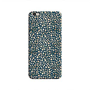 Cover It Up - Brown Navy Pebbles Mosaic V5 Hard Case