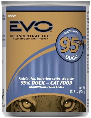 EVO 95% Duck Canned Cat Food – 12×13.2 oz, My Pet Supplies