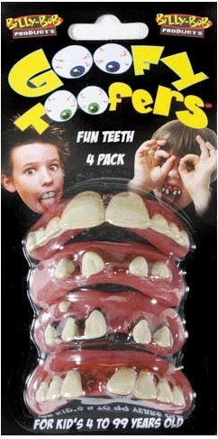 Billy-Bob Goofy Toofers Rotted Redneck False Teeth One Size -