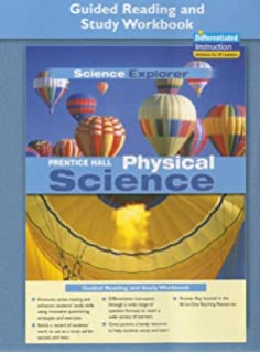 Worksheets Prentice Hall Physical Science Worksheets amazon com science explorer physcial guided study prentice hall physical reading and workbook 2005