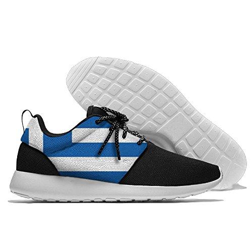 Yoigng Mens Drapeau De La Grèce Jogging Chaussures Sport Sneakers Casual  Chaussures. chaussures  semelle en caoutchouc, mousse à mémoire ... 27ade199e86a