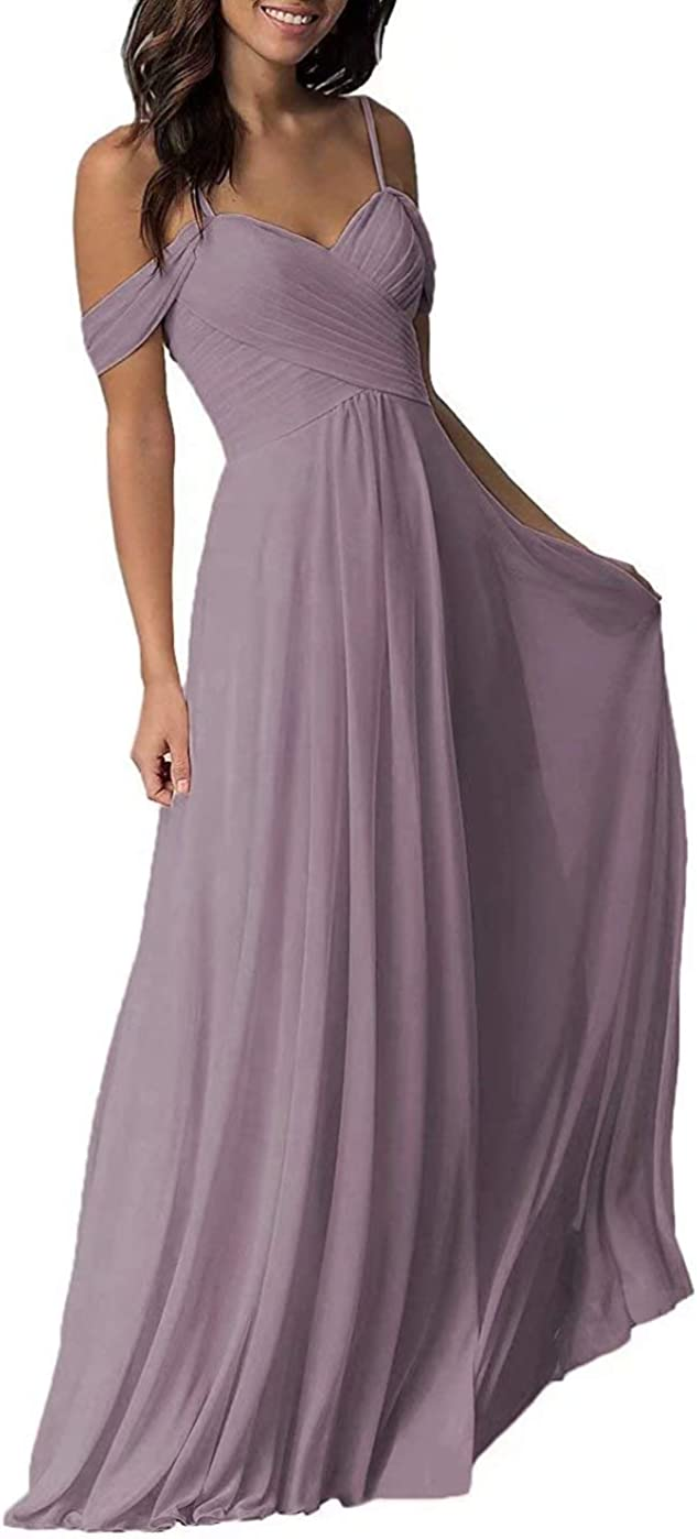 RYANTH Off The Shoulder Long Bridesmaid Dresses Plus Size Wedding Formal Gowns for Womens RYZ03 Sage