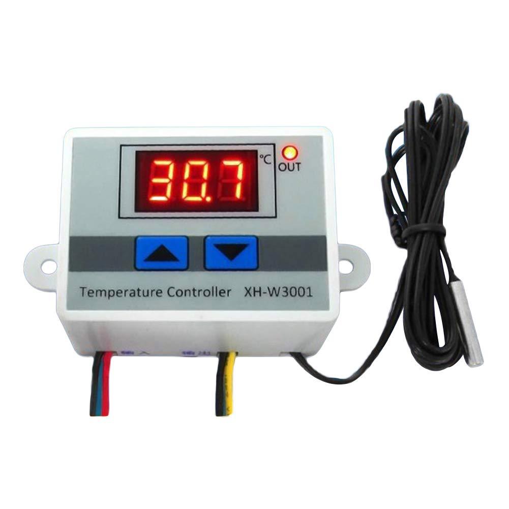 SIridescentZB 12 V / 220 V Digital LED Temperaturregler 10A Thermostat Schalter mit Sonde 220V Slri