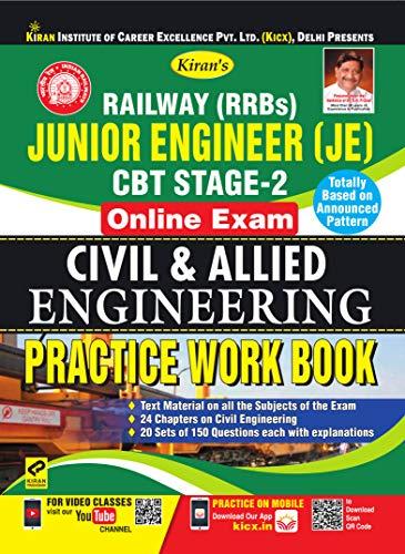 Kiran's Railway (RRBs) Junior Engineer (JE) CBT Stage-2 Online Exam Civil & Allied Engineering Practice Work Book - English(2580)