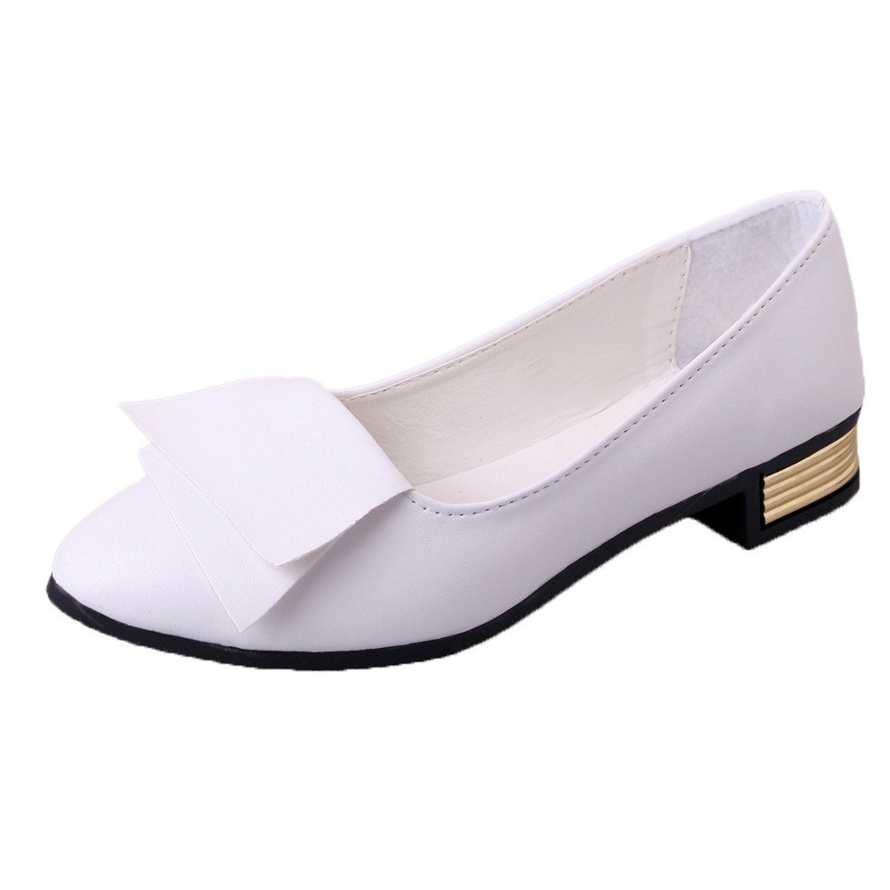 ❤️Women's Shoes, Neartime 2018 New Summer Office Shoes Pumps Wedding Shallow Lady Pointed Toe Casual Sandals (5.5, White)