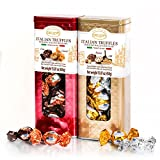 italian chocolate - Delicia Italian Truffles(Cocoa/Caramel, Hazelnut/Milk), Set of 2