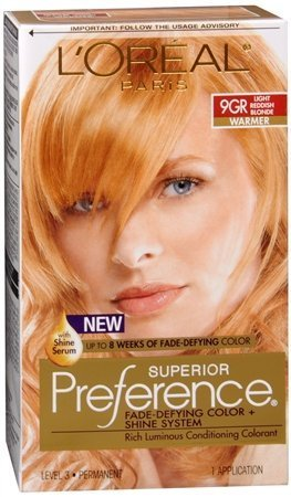 L'Oreal Superior Preference - 9GR Light Reddish Blonde (Warmer) 1 Each (Pack of 3) (L Oreal Excellence Creme Light Reddish Blonde)