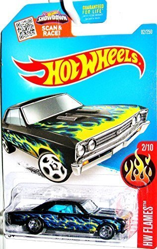 Hot Wheels, 2016 HW Flames, '67 Chevelle SS 396 [Black] Die-Cast Vehicle #92/250 ()