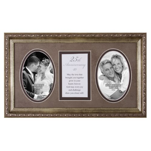 25th Anniversary Poster (25th Anniversary Love Hearts Forever 18x11 Wood Wall Art Frame - Holds Two 4x6 Photos)