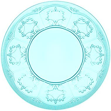 Fitz and Floyd Trestle Glassware Novelty Plate, Small, Multicolored