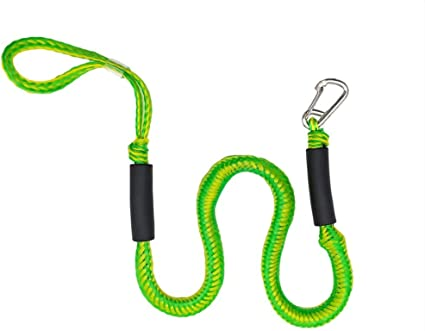 Runner Boat Pontoon Heavy Duty Braided Line Watercraft Steel Clip Pothook Kayak Marine Cord with Foam Float Perfect for Jet Ski XDLEX PWC Bungee Dock Line Stretchable for Kayak