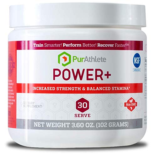 PurAthlete Power+ Supplement for Stamina, Strength and Endurance | Fast Absorbing Magnesium Creatine Supplement Powdered Drink Mix | Non-Toxic, Safe for Athletes | 30 Servings – 99 Grams