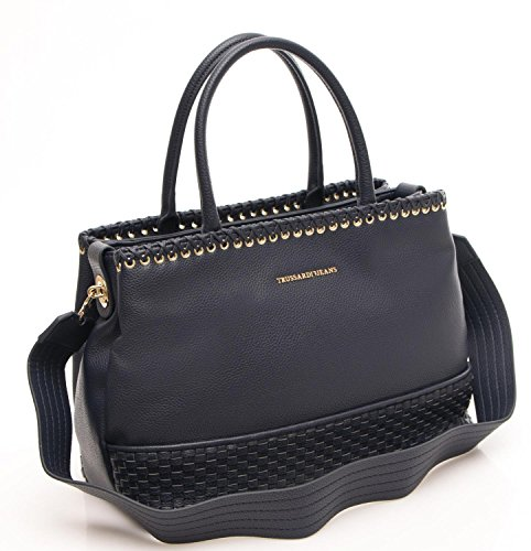 Trussardi Borsa Donna Mimosa Smooth Satchel Bag blu