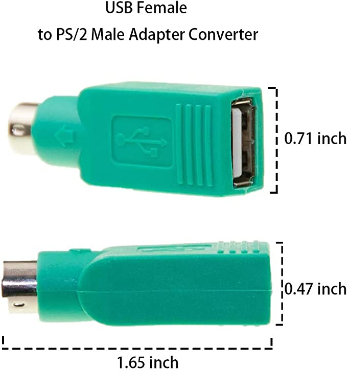 USB Male To PS2 Female Adapter Converter for Computer PC Keyboard Mouse BSCA