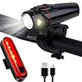 Bike Lights Front and Back, Inspirebike USB Rechargeable LED Bicycle Light,with Free Bike Tail Light – Best Cycling Light Universal Fits for Any Road Mountain Bike (Black) For Sale