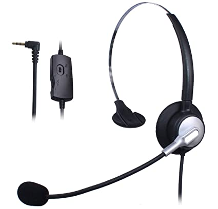 Wantek Mono Call Center Teléfono Auricular con 2.5mm Auricular Jack + Micrófono + Volume Mute
