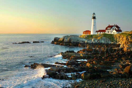 - Portland Head Lighthouse Color CHOOSE FROM FOUR SIZES Early Morning Maine Photographic Print Photo Picture Poster Standard Frame Size