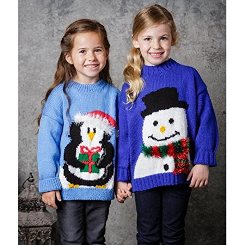 Stylecraft Childrens Christmas Sweaters Special Knitting Pattern 9309 DK