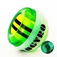 MepLife Power Wrist Ball,Hand Strengtheners Training Physical Therapy Grip Balls, Autostart LED Spinner Gyroscopic Forearm Arthritis Exerciser Equipment, Fidget Stress Release Toys for Kids Adults