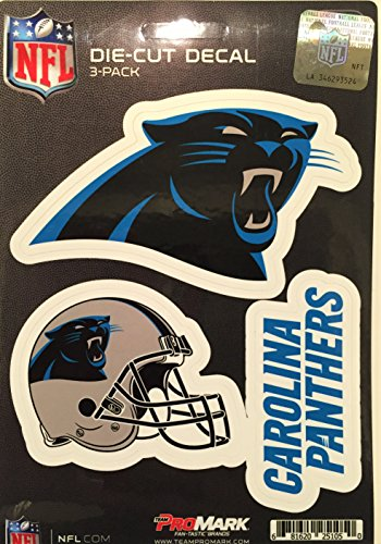 NFL Carolina Panthers Team Decal, 3-Pack