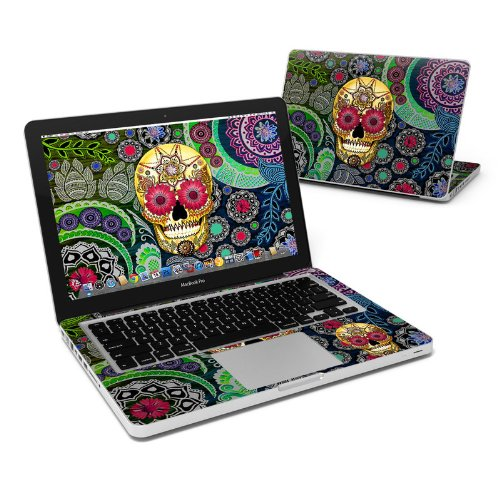 Sugar Skull Paisley Full-Size 360° Protector Skin Sticker for Apple MacBook Pro 13'' Inch - Ultra Thin Protective Vinyl Decal wrap Cover