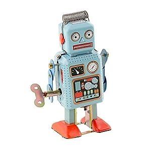 Soledi Funny Dark & Green Clockwork Spring Wind Up Metal Walking Robot Retro Vintage Mechanical Kids Children Toy Gift from Soledi
