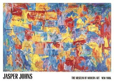 Amazon 48x68 Jasper Johns Map Art Huge Print Poster