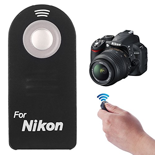 D40 Zoom Battery (Kamisafe Wireless IR Remote Control Replacement ML-L3 for Nikon DSLR SLR Cameras Camcorders)