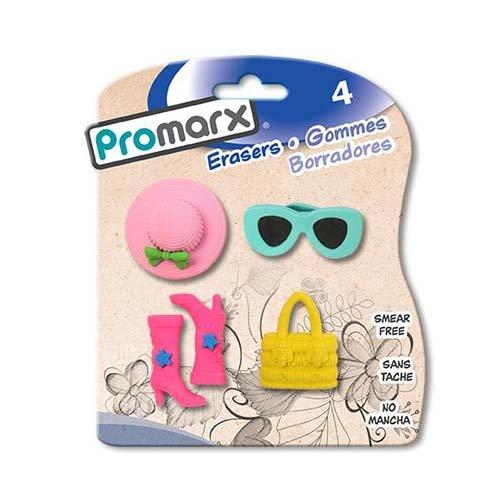 Promarx 4ct Girl Fashion Erasers, Case of 48 by DollarItemDirect (Image #1)