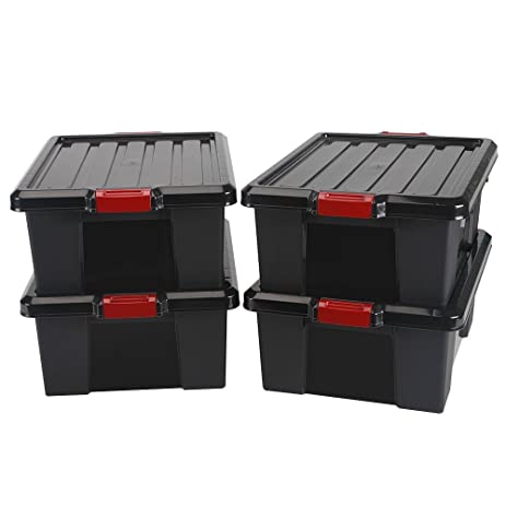 Iris Store-It-All Pro Series Large Storage Tote Black/RedSet  sc 1 st  Amazon.com & Amazon.com: Iris Store-It-All Pro Series Large Storage Tote Black ...