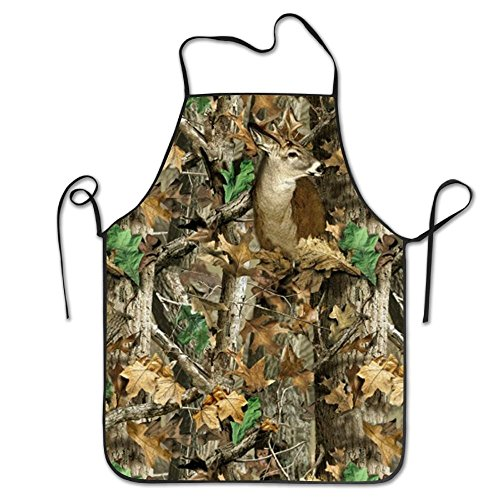 Vgjs7a Camo Deer Camouflage Hunting Bib Apron Works Apron,Cooking Kitchen Aprons For Women Men Chef ()