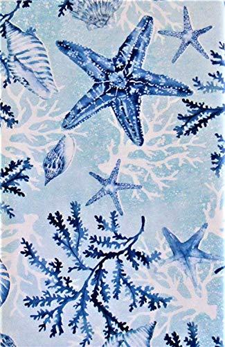 Sea Life Wonders Vinyl Flannel Back Tablecloth (60