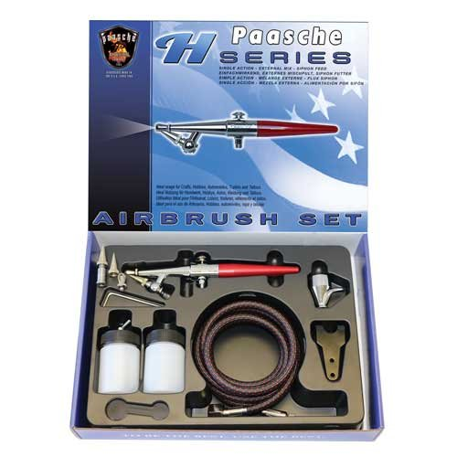 - Paasche H-202S Airbrush Kit with Anodized Aluminum Handle
