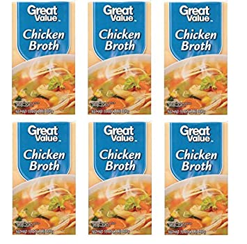 Amazon Great Value Chicken Broth Reduced Sodium 32 Oz Pack