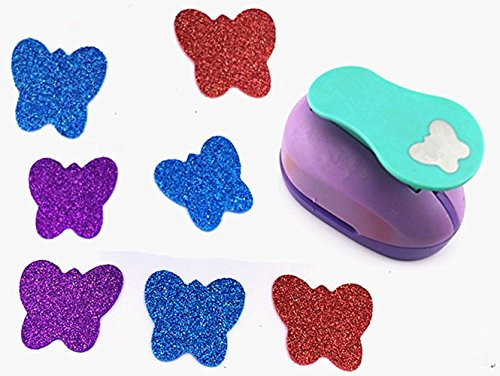 Tech-P Creative Life 2-inch Large Paper Craft Punch for Making Colorful Garlands Hanging Decorations,Card Scrapbooking Engraving Kid DIY Handmade Arts Crafts Projects.-Butterfly (Butterfly Medium Punch)
