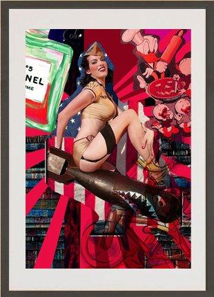 166d83d906b Burlesque Original Print Painting erotic vintage pin-up girl