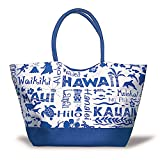Large Beach Tote Bag Hawaii Adventures Navy For Sale