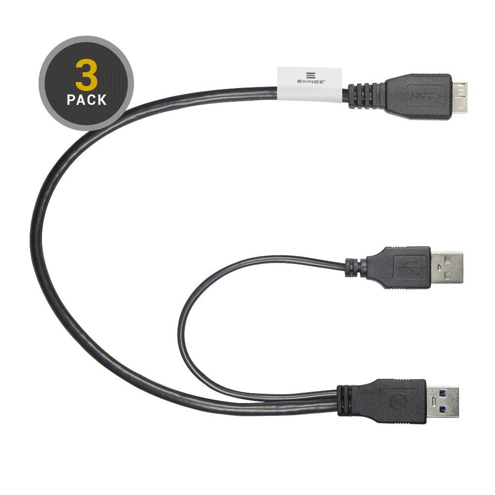 Câble Micro USB 3.0 en Y pour Disque Dur Externe Samsung M3 1 PACK