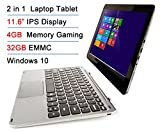 "Intel Atom X5 Z8300 11.6"" IPS 4GB RAM 32GB EMMC Touchscreen 2-in-1 Laptop Tablet PC Windows 10 + Bluetooth keyboard Docking"