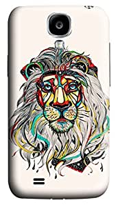 S4 Case, Samsung S4 Case, Customized Protective Samsung Galaxy S4 Hard 3D Cases - Personalized Lion Color Cover