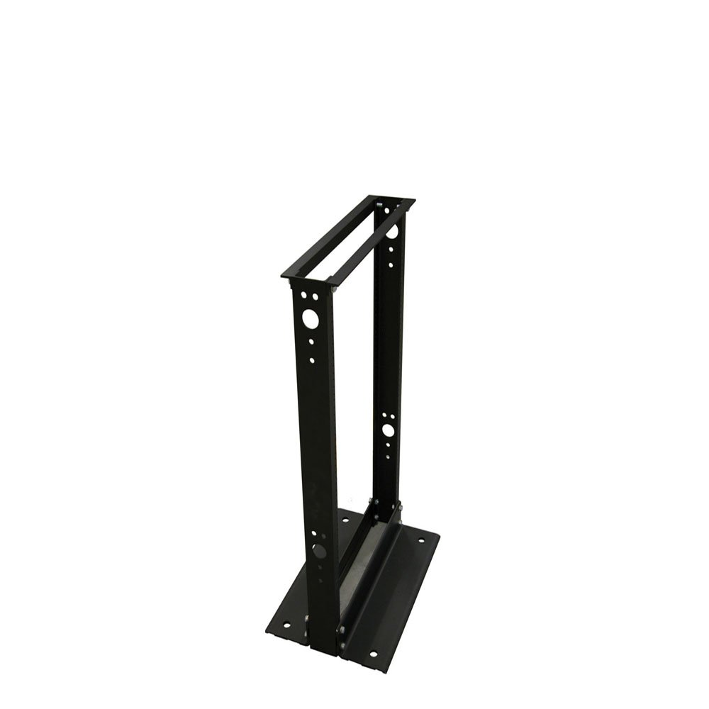 Quest Manufacturing 2-Post Open Frame Aluminium Floor Rack, 28 Unit, 4' x 19'', Black (FR1904-28-02)