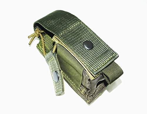 Tactical Molle Radio Pouch / MOLLE PALS Webbing Utility Attachments Accessories / Universal Phone/Radio/Electronic Device Holder Carrier / OD Green Olive Drab color / Made in - Colors Russia Of